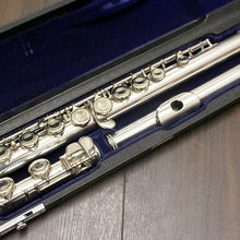 Flute Musical-Instrument Silver-Plated MURAMATSU 16 Closed with M-150 16-Holes Tune Performance