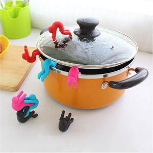 Prevent-Pot-Cover-Overflow Spill-Control Multi-Functional Silicone Lids-Holder Cooking-Tools