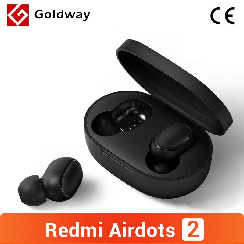 Xiaomi Redmi AirDots 2 אלחוטי Bluetooth 5.0 TWS אוזניות אוזניות שמאל ימין פיגור נמוך מצב Mi אמיתי אלחוטי סטריאו אוטומטי קישור