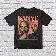 Kanye west 90 vintage unisex camiseta preta