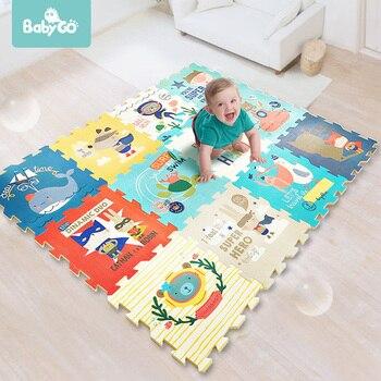 Alfombra de juego de espuma PE BabyGo almohadilla de gateo espesada de insípido para niños sala de estar de dibujos animados antideslizantes alfombra de juego para el suelo