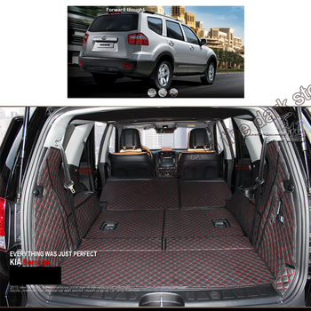 lsrtw2017 for kia mohave leather car trunk mat cargo liner 2009 2010 2011 2012 2013 2014 2015 2016 2017 2018  Borrego rear boot car rear trunk security shield shade cargo cover for ford edge 2009 2010 2011 2012 2013 2014 2015 black beige