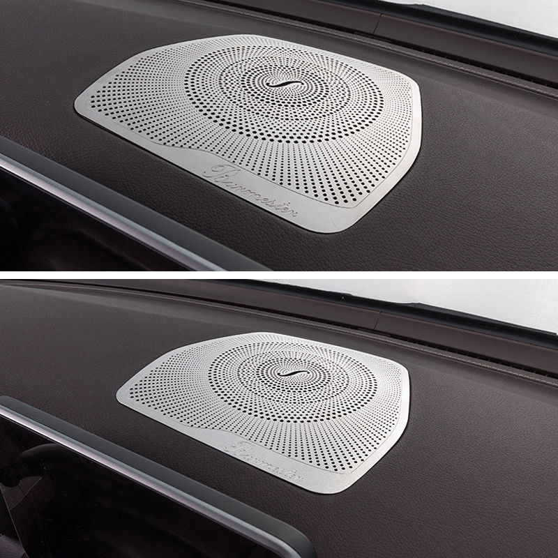 Dashboard Loudspeaker Cover Stickers Trim Accessories LHD For <font><b>Mercedes</b></font> Benz <font><b>W205</b></font> GLC C Class C180 C200 Car styling Audio Speaker image