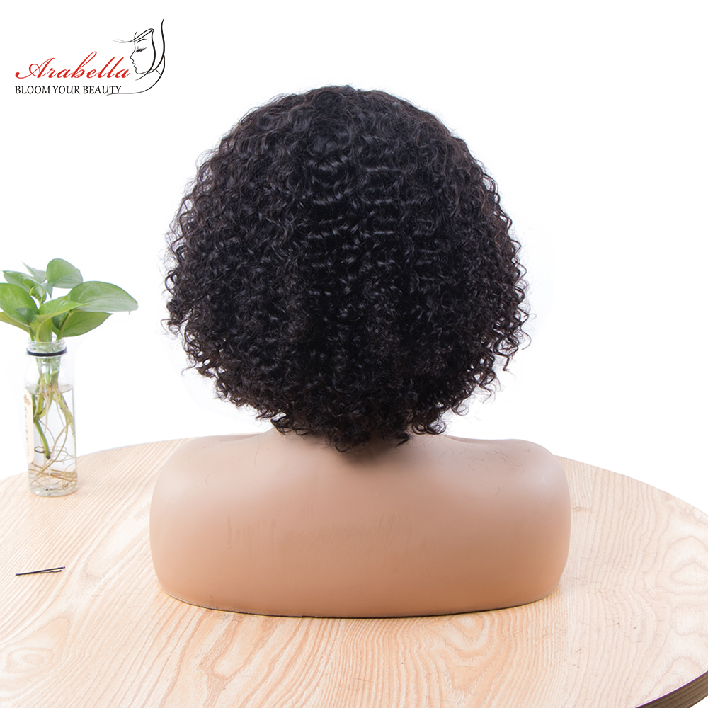 Jerry Curly Machine Wig 100%  Wigs 180% Density Natural  Hair Arabella Curly Hair Wig  3
