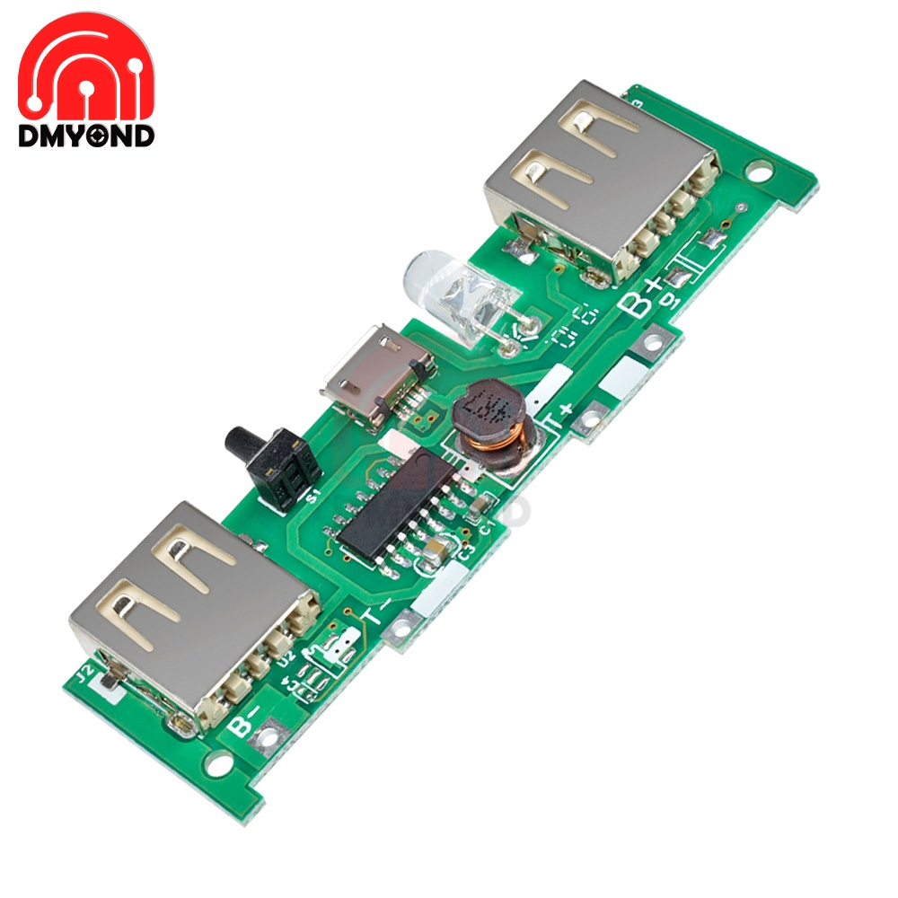 DC 5V 1A 2A Mobile Power Bank Charger Control Board Micro USB Polymer Lithium Battery Charging Board DIY Step Up Boost Module