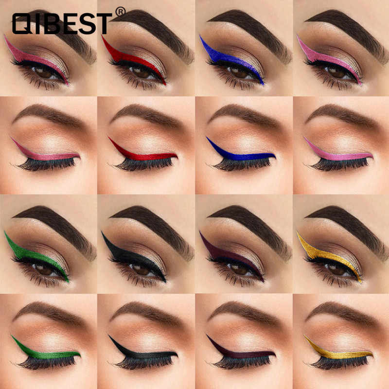 12 Colors Eyeliner Quick-dry Thick black Waterproof Sweat-proof Long-lasting Non-fading Easy To Color Eyeliner Makeup Cosmetics
