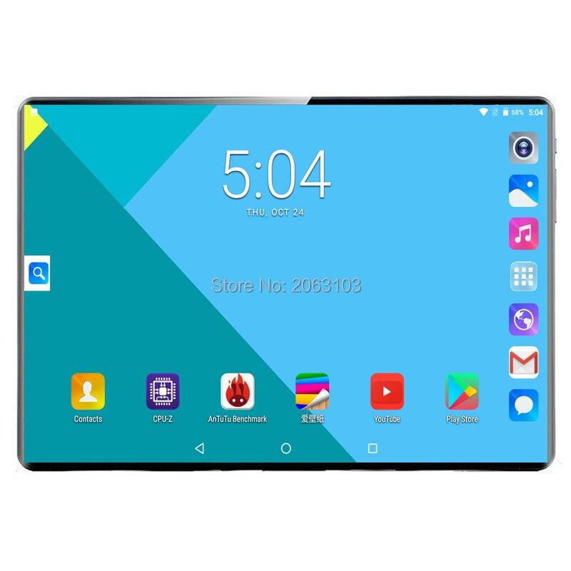Супер планшет 128G глобальная 3g WI-FI море Bluetooth Android 9,0 10 дюймов планшет Deca Core, размер экрана 8 Гб Оперативная память 64 Гб 128 Встроенная память 2.5D