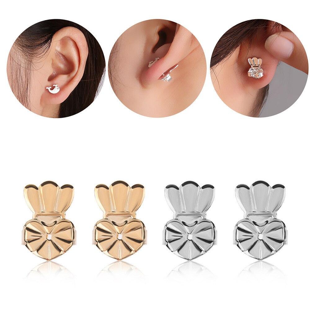 New Arrival Crown Stud Back Earrings Support Fits For Women Jewelry Heart Earlobe Earrings Lift Lifter Fits Accessories