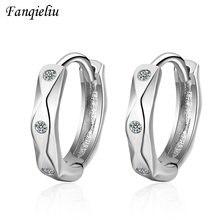 Женские круглые серьги кольца fanqieliu из стерлингового серебра