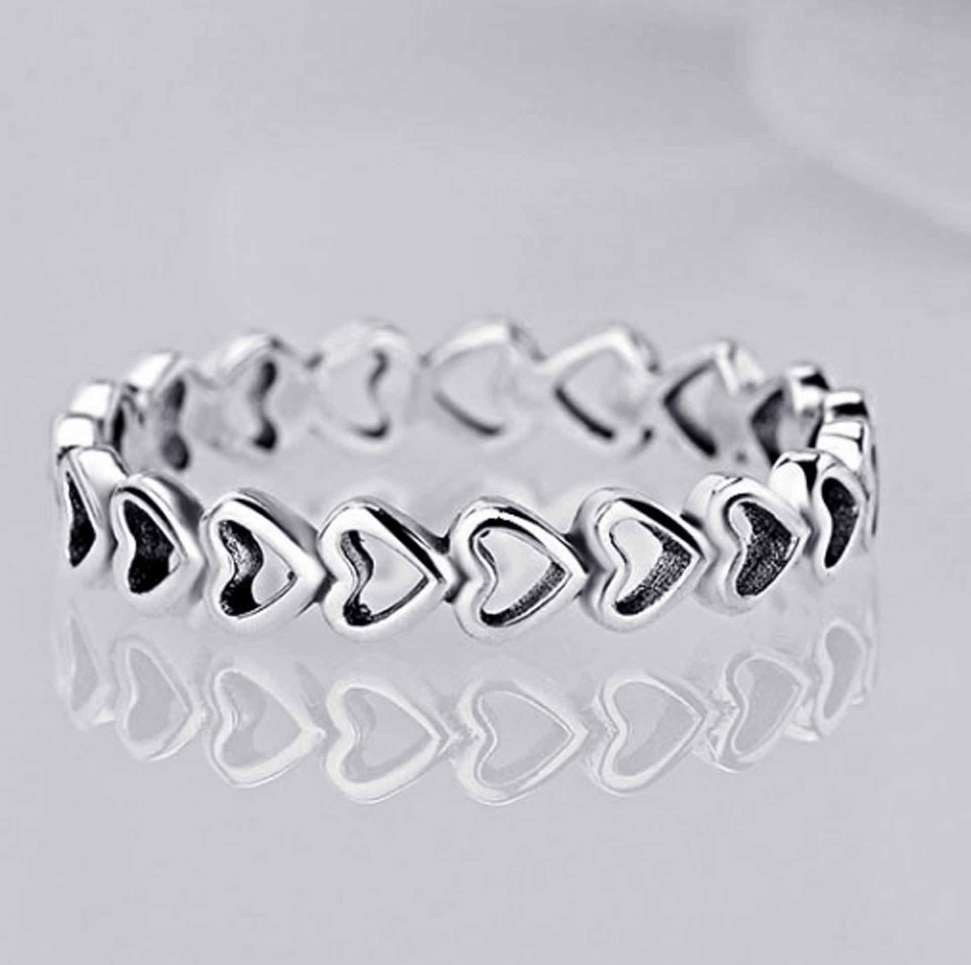 2019 New Fashion Ring Love Heart Crown Flower Finger Rings Clear CZ Stackable Fit Pan For Women Wedding Jewelry Gift Dropship 2