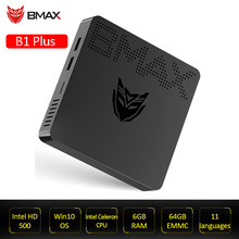 BMAX B1 más juegos de escritorio Mini ventana PC Intel Celeron N3350 6GB 64GB Dual núcleos Intel HD Graphics 500 RJ45 WIFI Bluetooth4.2