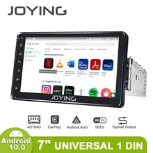 """אוניברסלי 1din אנדרואיד רכב רדיו GPS מולטימדיה נגן אנדרואיד 10.0 HD 7 """"רכב ראש יחידת 4GB + 64GB עם 5G WIFI/4G Carplay BT 5.1"""