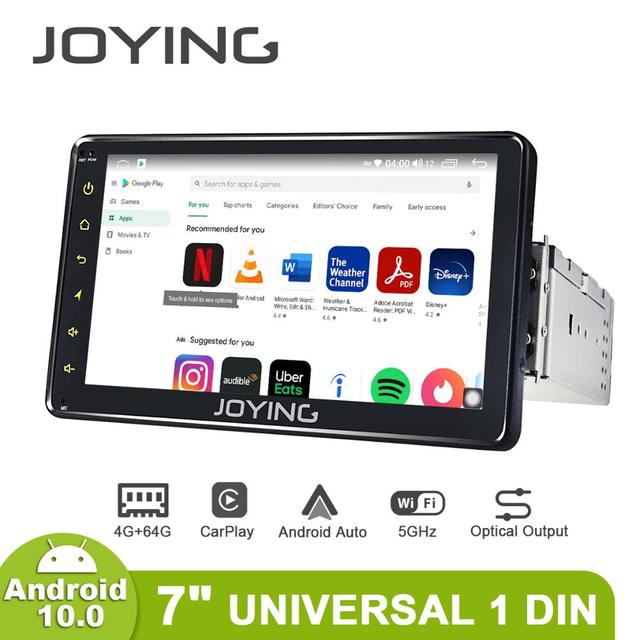 """Universal 1din android car radio GPS reproductor multimedia Android 10,0 HD 7 """"coche Unidad 4GB + 64GB con 5G WIFI/4G Carplay BT 5,1"""