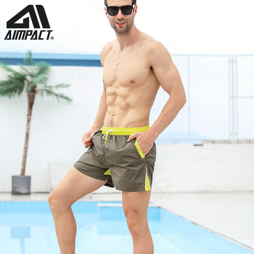 Mens Athletic   Board     Shorts   Beach   Shorts   Swimming Surf Trunks 4 inches Quick-Dry Mesh Liner Sportwear Sportsuit with Drawstring