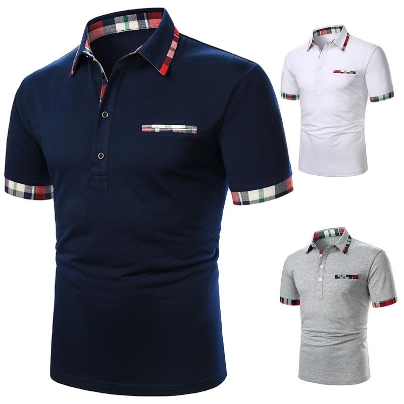 Men Polo Men Shirt Short Sleeve Polo Shirt Contrast Color Polo New Clothing Summer Streetwear Casual Fashion Men tops 4