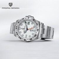Pagani Design-Reloj mecánico automático de acero inoxidable para Hombre, pulsera deportiva de zafiro, serie Explorer GMT, novedad de 2021