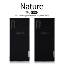 Untuk Samsung GALAXY Catatan 10 Plus Case NILLKIN Nature TPU Bening Transparan Soft Back Cover UNTUK Samsung Note10 + 5G Case Pelindung(China)
