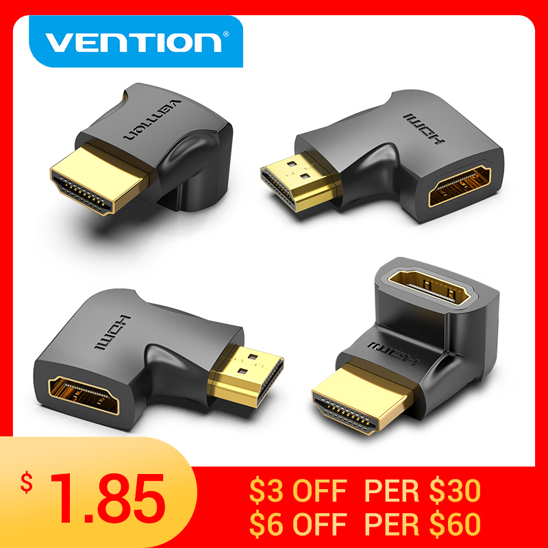 Vention HDMI Adapter 90 270 Degree Right Angle Male to Female Converter 4K HD Connector for HDTV PS4 Lptop TV Box HDMI Extender