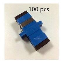 100 шт. SC UPC коннектор SC оптический адаптер волоконно оптический адаптер, волоконно оптический коннектор Simplex одномодовый пластик