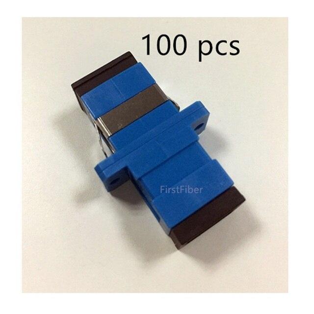 100pcs SC UPC  connector SC optical adapter Fiber Optic Adapter, Fiber Optic Connector Simplex Singlemode Plastic