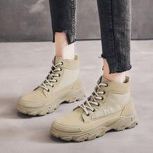 Новые женские зимние ботинки для девочек в корейском и британском