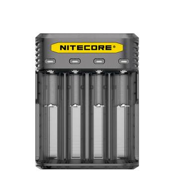 NITECORE Q4 inteligentna ładowarka Li-ion IMR 4 sloty ładowarka do 18350 14500 16340 RCR123 26650 10340 akumulator litowo-jonowy tanie i dobre opinie kieszonkowe narzędzia uniwersalne CE RoHS CCC charging batteries Output 4 2V+-1 1A*4 2A*2