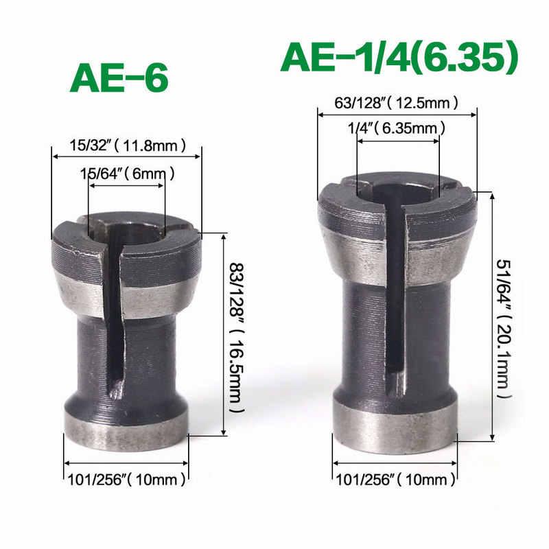 1 pz 6mm e 6.35mm e 8mm macchina per incidere di punte del Router di lavorazione del legno fresa per legno fresa per legno Set di conversione mandrino