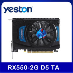 Yeston RX 550 2G D5 TA Graphic Card Video Card Radeon Chill 2GB Memory GDDR5 128Bit 6000MHz DP+HD+DVI-D Small Size GPU For PC