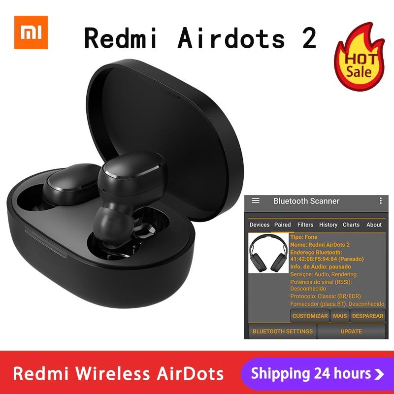 Xiaomi Redmi AirDots 2 Наушники-вкладыши TWS Bluetooth 5,0 шумоподавление с микрофоном AI управления Redmi AirDots S беспроводная гарнитура