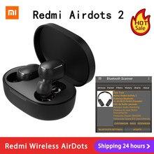 Xiaomi – Redmi AirDots 2 TWS Bluetooth 5.0, réduction de bruit, avec micro, commande AI, casque d'écoute sans fil