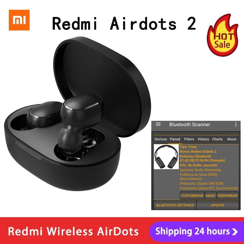 Xiaomi Redmi AirDots 2 TWS Bluetooth 5.0 Noise Reduction with Mic AI Control Redmi AirDots S True Wireless Headset