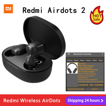 Xiaomi Redmi AirDots 2 TWS Bluetooth 5 0 redukcja szumów z mikrofonem AI Control Redmi AirDots S prawdziwy bezprzewodowy zestaw słuchawkowy tanie i dobre opinie Słuchawki Piston w wersji młodzieżowej douszne Inne CN (pochodzenie) wireless 123dB NONE instrukcja obsługi Etui ładujące