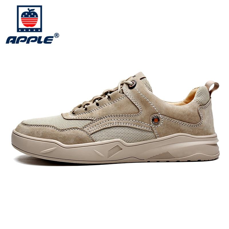 Купить бренд apple осенне зимняя модная обувь мужская из натуральной