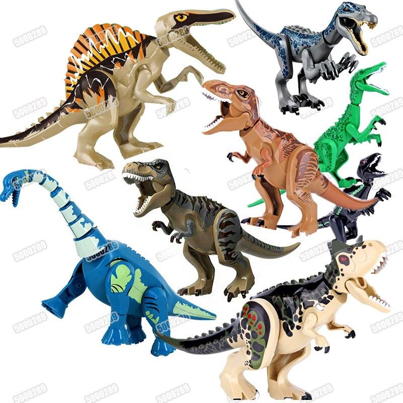 Jurassic World 2 Building Blocks Dinosaurs Figures Bricks Tyrannosaurus Rex Indominus Rex I-Rex Assemble  Kids Toys