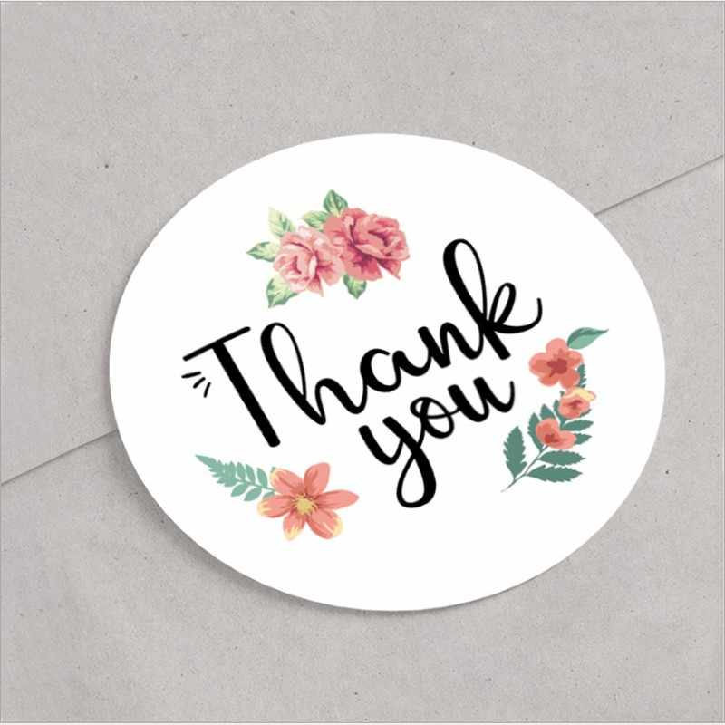120pcs/pack Sealing sticker THANK YOU Round dia 2CM small size lace decoration Children envelope sealing packaging grass