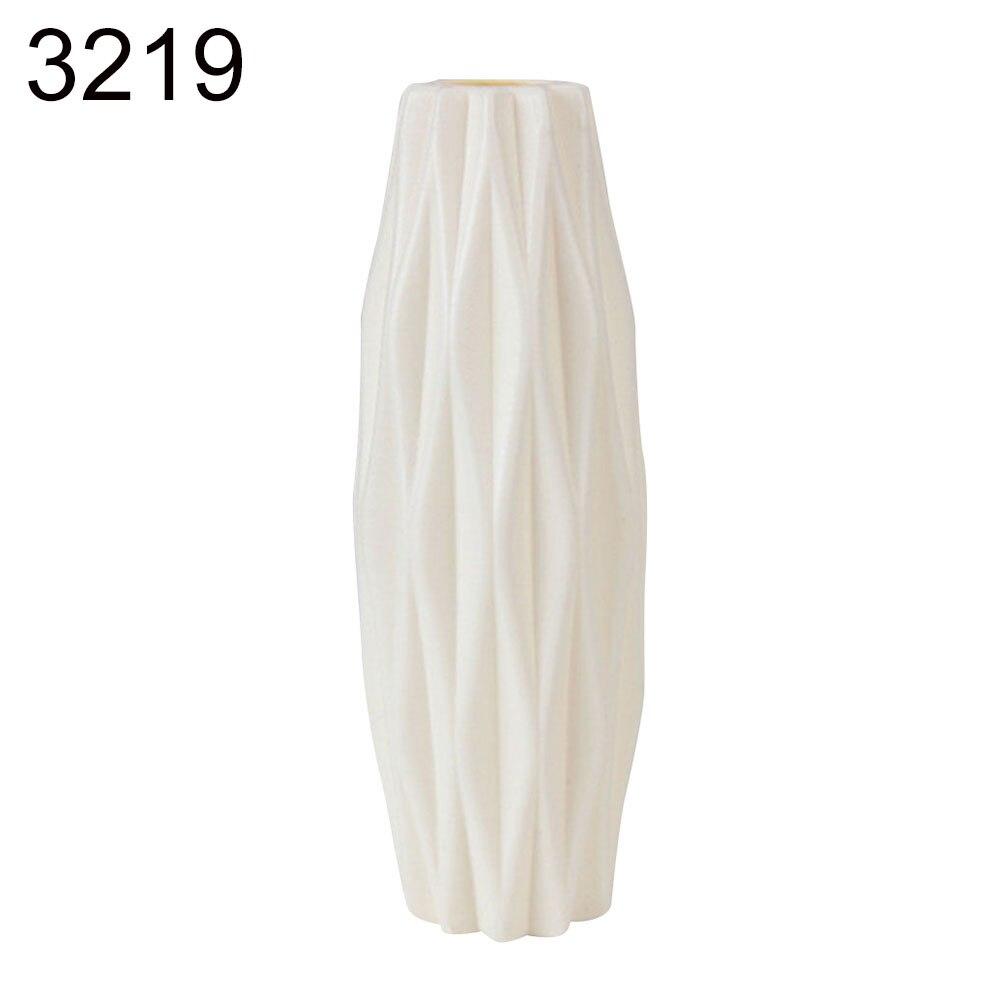 Пластиковый Небьющийся цветочный горшок ваза для кабинета прихожей дома свадебное украшение Цветочная корзина цветочные вазы скандинавские украшения - Цвет: White 21cm x 7cm