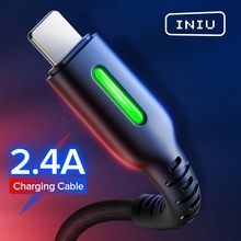 INIU LED USB Cable For iPhone 11 Pro XS MAX XR X 8 7 Plus 6S 5 3A Fast Charging Charger Wire Mobile Phone Cable Charge Data Cord cheap LIGHTNING TYPE-C Micro Usb 2 4A USB A With LED Indicator 0 5m(1 6ft) 1m(3 3ft) 2m(6 6ft) 3m(9 8ft) For iOS 13 12 11 10 9 8 USB Cord