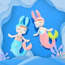 Rabbit Mermaid Angela Dolls Baby Children Plush Toys Gift Sleeping Bunny Rabbit Plush Toys Customize недорого
