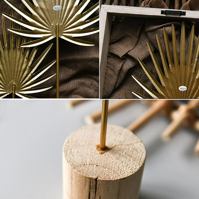Nordic Iron Luxury Golden Banana Leaf Ornaments Home Furnishing Crafts Gifts Living Room Cabinet Art Home Decoration Accessories 5