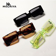 New Small Rectangle Sunglasses Women Men Vintage Brand Desig
