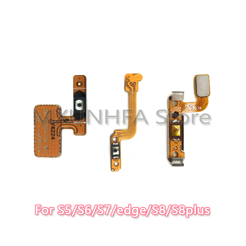 Power Switch Button ON OFF Connector Flex Cable For Samsung Galaxy S3 S5 S6 S7 Edge S8 Plus Repair Parts