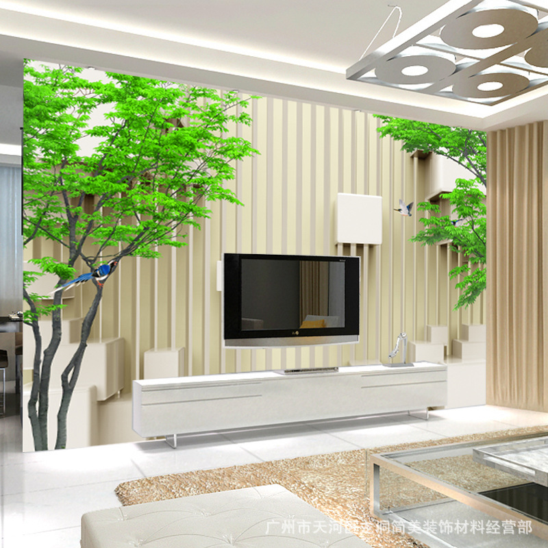 European Style 3D Wallpaper Soft Bag TV Backdrop Wallpaper Non-woven Mural Minimalist Modern Soft Background Wall Mural