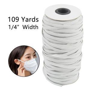 Эластичная лента для шитья 3 мм, мягкая эластичная лента 4 мм 5 мм 6 мм 1/4 дюйма, белая и черная плетеная лента, веревка, аксессуары для шитья