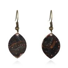 2019 fashion vintage leaf shape drop earring jewelry