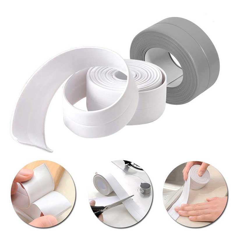 Bathroom Bathtub Kitchen Wall Stickers Self Adhesive Sealing Sealant Tape Mildew Proof Waterproof Toilet Wall Corner Stickers