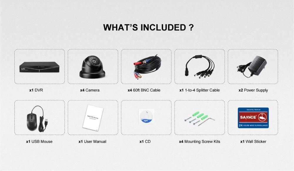 segurança 5in1 1080n dvr com 4x8x1080 p