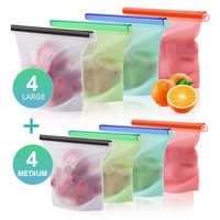 RASABOX - Kitchen Storage & Organization, Reusable Food Storage Containers, Silicone Food Storage Bags for Food Vegetable Meat