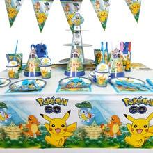 17 pçs/set Pokemon Pokemon Bolso Família Amigo Colega Birthday Party Decoration Set Brinquedo Pikachu Dos Desenhos Animados Anime Figura Tabl