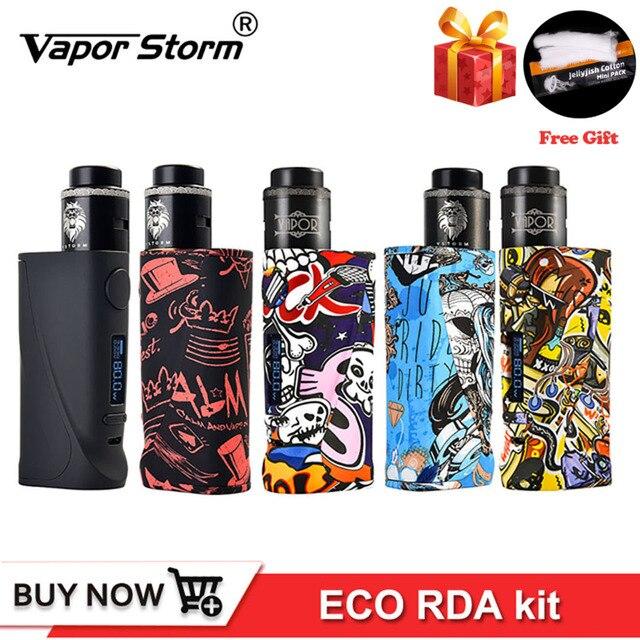 Оригинальный Новый боксмод Vapor Storm ECO Pro, стартовый набор, вейп ABS 5 80 Вт, переменная мощность TC 510, резьба Lion RDA, катушка для самостоятельной сборки электронной сигареты