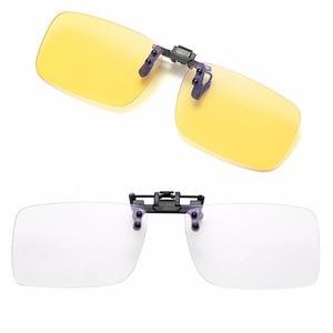 1pc Clip On Unisex Polarized Sunglasses Near-Sighted Driving Night Lens Anti-UVA UVB Cycling Riding Sunglasses Anti Blue Light